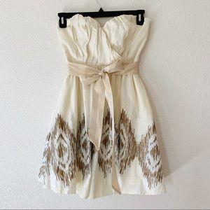Moulinette Soeurs Cream Strapless Dress